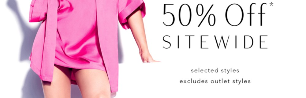 50% Off* Sitewide