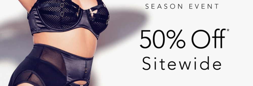 50% Off Sitewide*