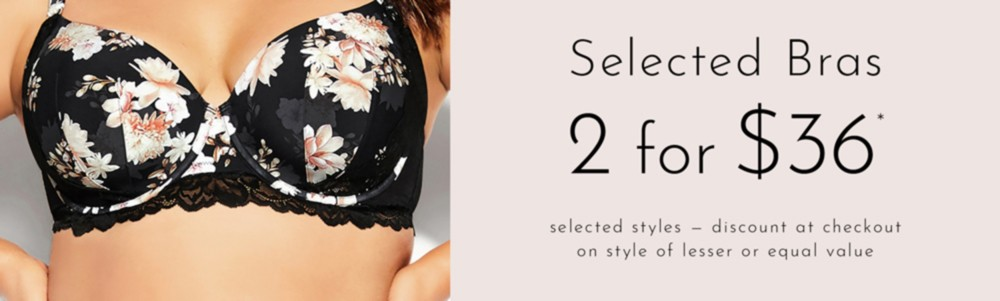 Selected Bras* 2 for $36
